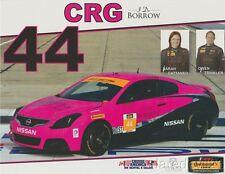 2016 CRG Nissan Altima Coupe ST IMSA CTSC postcard Sarah Cattaneo
