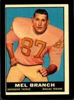 1961 TOPPS #134 MEL BRANCH EX TEXANS UER *SBA1660