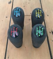 GEAR KNOB FOR RENAULT SCENIC II CLIO III MEGANE II 5 Spd RED BLUE 6 COLOURS