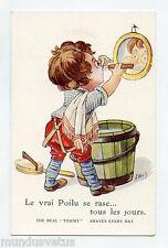 WW1 .A. WUYTS .Patriotique .LE VRAI POILU SE RASE...Enfant . Child patriotic