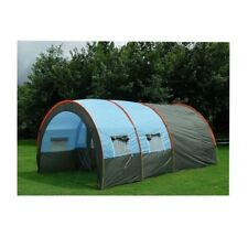 8person Waterproof Tunnel Tent Camping Outdoor Party Family Travel Hiking 2rooms