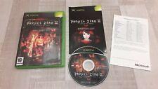 Jeu Project Zero II 2 Crimson Butterfly - Xbox - complet en Français