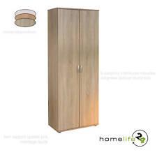 Armoire rangement bureau étagère 2 portes bois naturel clair