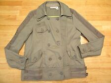 DKNY Jeans Women's Beige Button Front Jacket with Pockets Size L