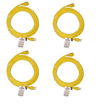 BYBON(4PACK) 25ft  Indoor Extension Cord SJT 14AWG/3C Heavy Duty UL Listed