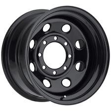 """Vision 85 Soft 8 15x7 6x5.5"""" -6mm Gloss Black Wheel Rim 15"""" Inch"""