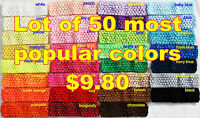 "50 Crochet Headbands Baby Girls 1.5"" Assorted Colors!"