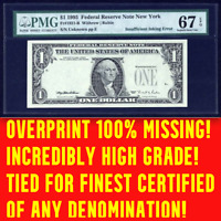 1995 PMG 67 EPQ Missing Overprint $990 APR! 100% Missing Third Printing POP TOP