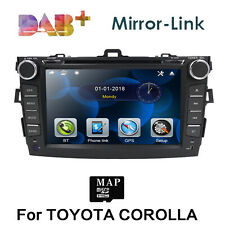 for 2007-2011 Toyota Corolla 8' 2 DIN Car Stereo Radio DVD Player+GPS-Navi BT TV