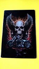 Wall Decor Metal Tin SIGN Home Garage poster (MOTORCYCLE and Skull with wings)