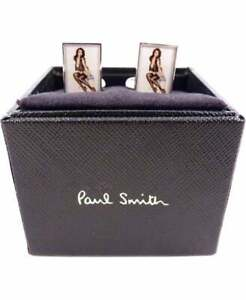 PAUL SMITH CUFFLINKS - ITALIAN LUXURY SIGNATURE 'NAKED LADY' CUFF LINKS RRP £125