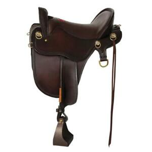 T46-621-5153-12 Tucker River Plantation Trail Saddle 16.5 Inch Wide Tree Brown