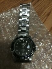 NEW INVICTA PRO DIVER BLACK DIAL STAINLESS STEEL WATCH MODEL 9307