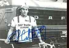 GUIDO VAN CALSTER team DAF Lejeune Trucks Signed Autographe cycling Signé equipe