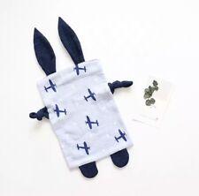 Baby Bunny Ears Muslin Comforter Planes