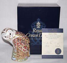 Royal Crown Derby - Prestige Barn Owl Paperweight - Box / Certificate - vgc