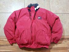 Men's Vintage Tommy Hilfiger Down Puffer Coat Jacket Flag Medium 90's