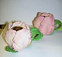 Vintage Tulip Candle Holders Set of Two