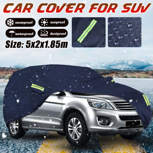 SUV Full Car Cover Waterproof Sun Rain Dust Resistant Protection All Weather XL