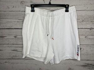 Tommy Hilfiger Sport Womens White Drawstring Sweat Shorts Size Large NWT