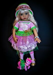 """Outfit + shoes for Little Darling, Dianna Effner 13"""" Unicorn"""