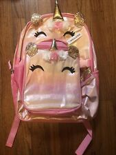 New listing 2Pcs/Set Girl Backpack Sparkly Lightweight Unicorn Shoulder School Bag Us