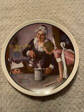 norman rockwell plates. Mothers Day 1982. Plate Number 8239C. In Perfect Shape