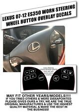 07-12 LEXUS ES350 STEERING WHEEL CONTROL BUTTON OVERLAY DECALS