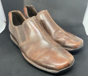 Cole Haan Men 9 M Zeno Split Toe Driving Loafers Moc Shoes Brown Leather C04269