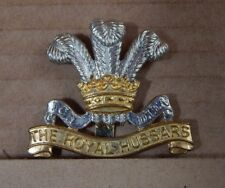 Royal hussars Cap badge  Staybrite Anodised 1980's Ammo Uk Private purchase