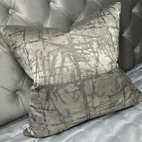 John Lewis & Partners Kyla Cushion Cover, GREY , SILVER Designer Home Interiors