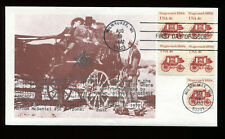 #1898A 4c Stagecoach Coil Fdc Edsel Masonic Cachet John Wayne from Movie Ua G322