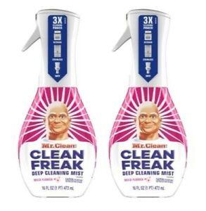 (2) Mr. Clean Clean Freak Deep Cleaning Mist Multi-Surface Spray Starter 16 oz