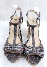 54c5ea3ea09 Stylish Animal Print Wedge Sandals from H M - Size 41 EUR 9.5 US