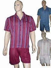 2-er Pack Herren Shorty kurz zum knöpfen Schlafanzug Pyjama Gr. M  Baumwollmisch