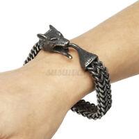 316L En Acier Inoxydable Gothique Tête de loup Chaîne Homme Bracelet Cadeau