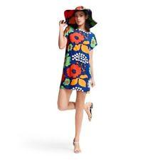 Marimekko for Target Women's Large Tunic Kukkatori Print Primary Swim Cover Up