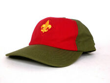 Boy Scouts of America Green/Red Hat Cap - Adjustable Strap - Youth S/M