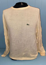 VINTAGE IZOD LACOSTE Yellow Knit Men's Sweater Size L