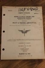 ORIGINAL 1941 AAC P&W R-1340 WASP RADIAL ENGINE PARTS CATALOG FLIGHT MANUAL