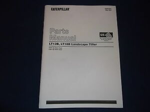 CAT CATERPILLAR LT13B LT18B LANDSCAPE TILLER PARTS BOOK MANUAL