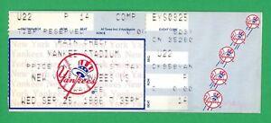Yankees Jorge Posada First Career Hit #1 Ticket 9/25/96