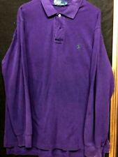 Mens  Vintage Ralph Lauren Polo Purple Long Sleeve Soft Knit Large