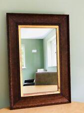 More details for antique wooden / oak framed wall mirror