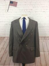 English Manor Men's Brown Wool Two Button Blazer 43R $349