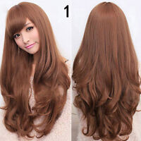 Women Long Curly Wavy Full Wig Heat Resistant Hair Cosplay Party Lolita Grace~