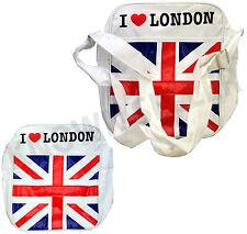 I Love London Union Jack White Mens Womens Shoulder Messenger Bag Camera Travel