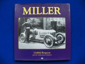 Miller Cars And Biography - Griffith Borgeson - Motorbooks International - VG+