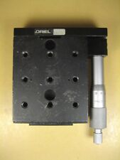 "Oriel Ball Bearing Linear Stage 16131 Micrometer Range 0-25mm Stage: 3-1/2"" x 3"""