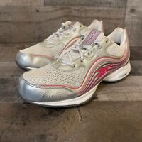 Reebok Easy Tone Walking Shoes Womens Size 8.5 White Pink Sneakers Athletic Walk